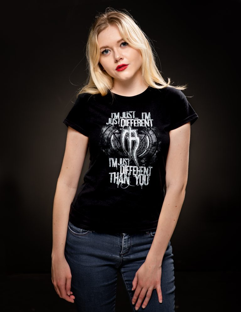 ladies different than you t shirt